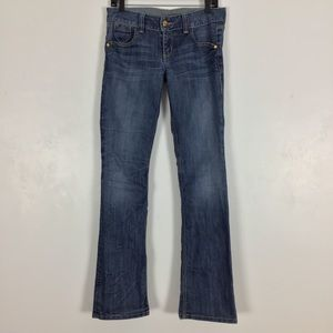 Guess Daredevil Straight Leg Jeans Distressed Blue